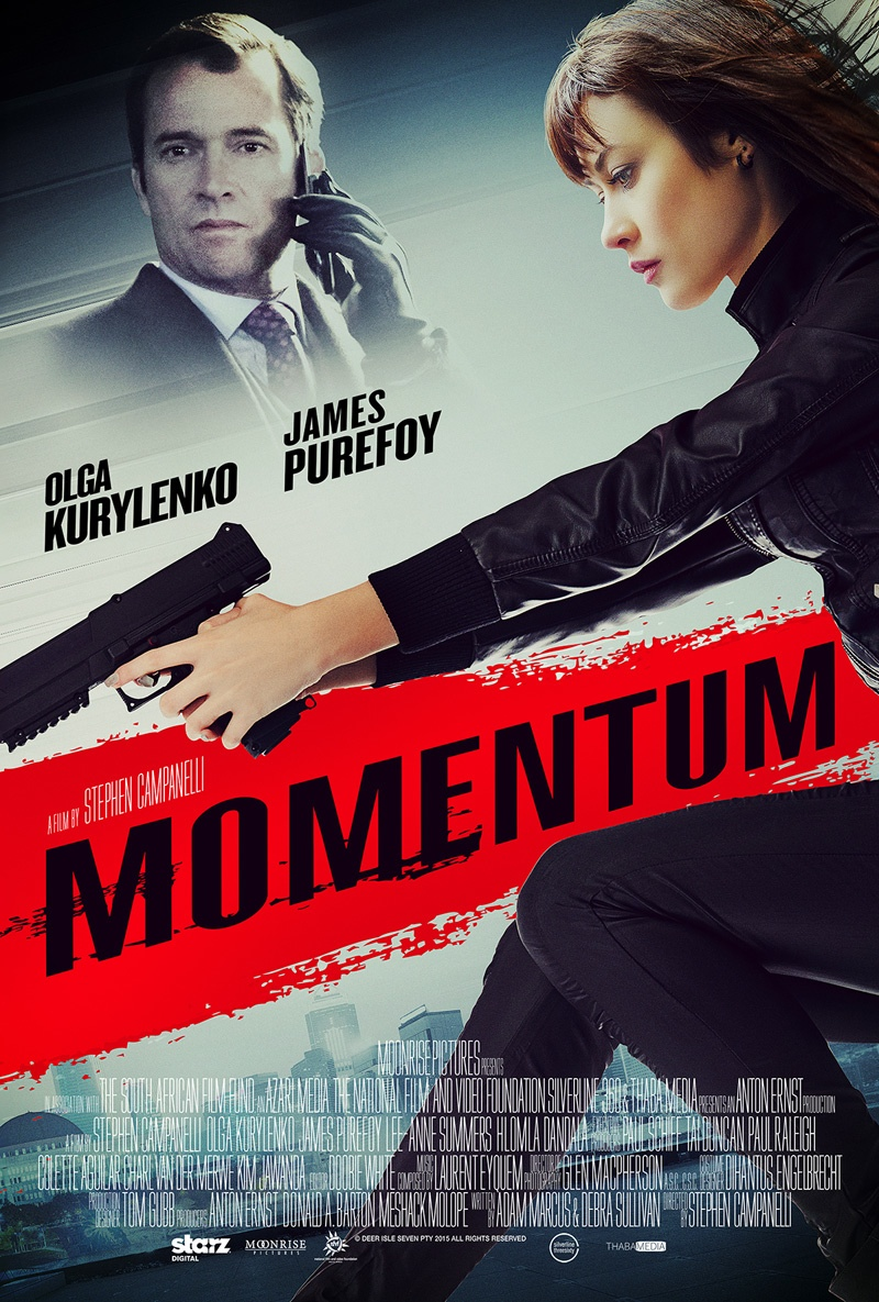 Actress Olga Kurylenko stars in a new action thriller called 'Momentum'. She plays a thief who gets caught up in one last heist where things go awry. The film is set for release on October 16, 2015 in the US.