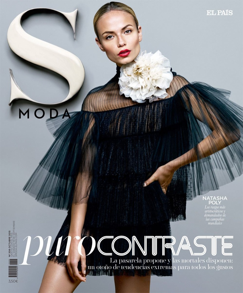 Natasha Poly on S Moda September 18, 2015 cover