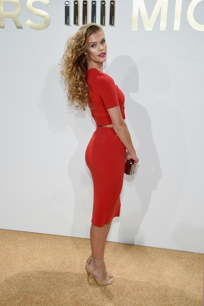Nina Agdal at Michael Kors Gold Fragrance Launch