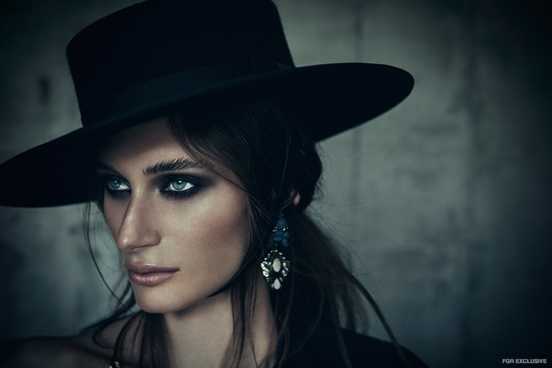 Hills Gaucho Hat from City Hatters (Worn Throughout), Ek Thongprasert Earring from Christine