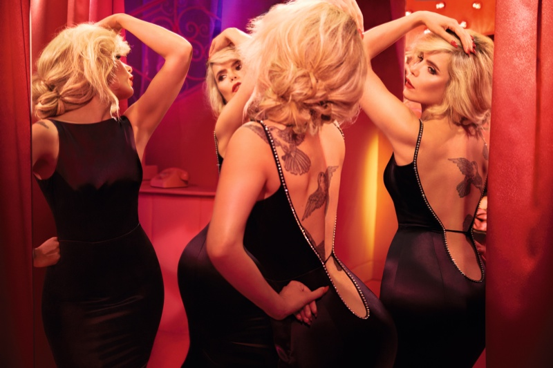 Paloma wears a slip dress from Agent Provocateur