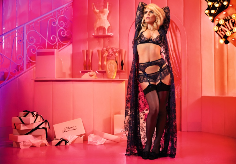 The singer poses in the lingerie label's sexy designs