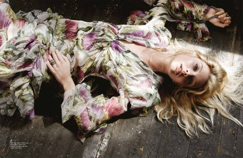 Patricia Van der Vliet Wears Dreamy Gucci Looks in BAZAAR Singapore
