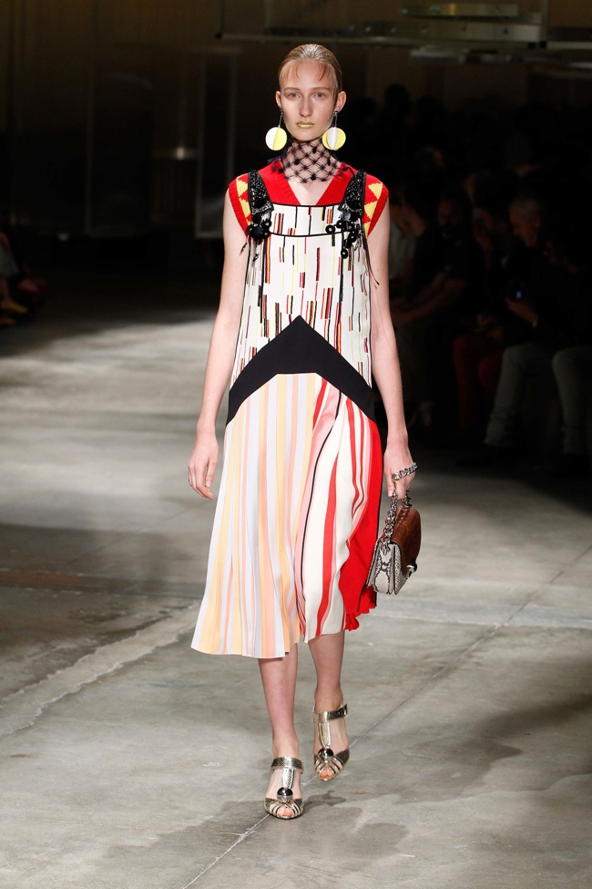 A look from Prada's spring 2016 collection