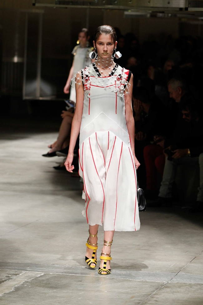 A look from Prada's spring-summer 2016 collection