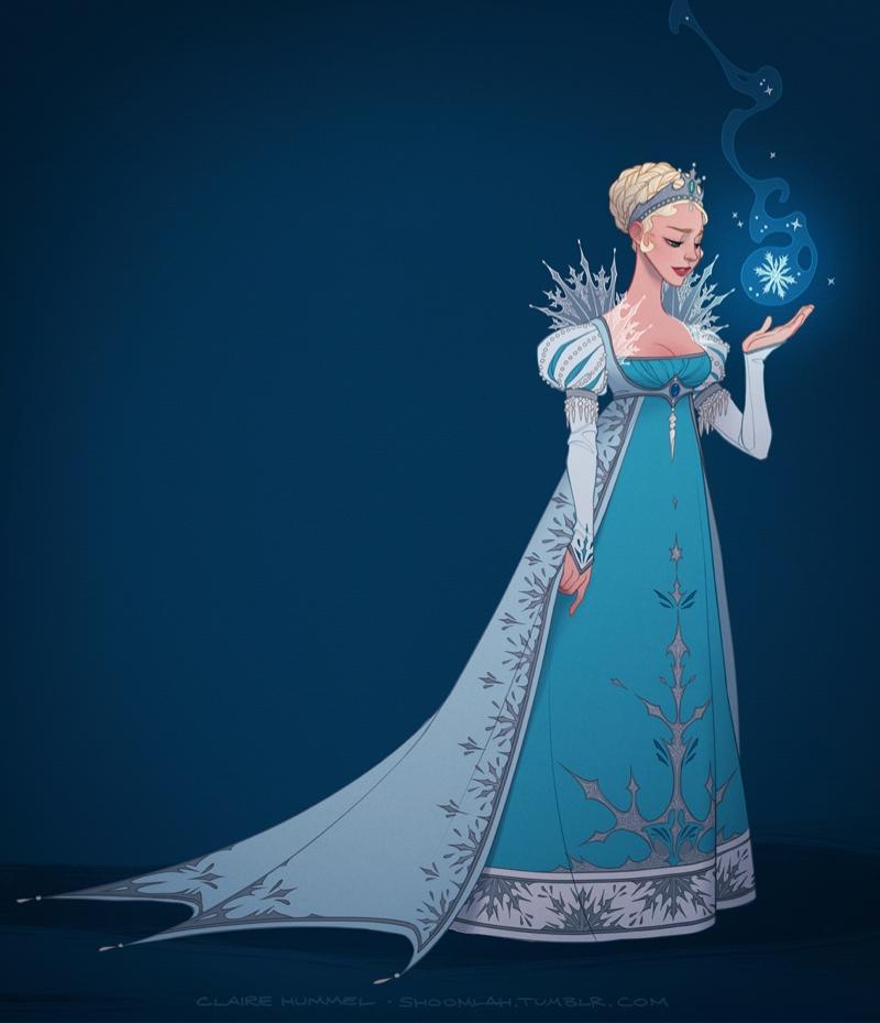 Elsa from Frozen (1830-1840 Scandinavia) Photo: Claire Hummel