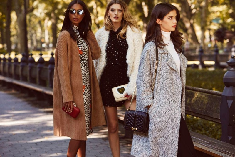 Jasmine Tookes, Bregje Heinen and Sara Sampaio star in REVOLVE Clothing's fall essentials lookbook