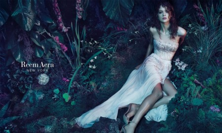 Isabelle Nicolay stars in Reem Acra's 2015 campaign