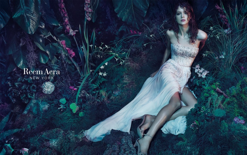 Isabelle Nicolay Enchants in Reem Acra