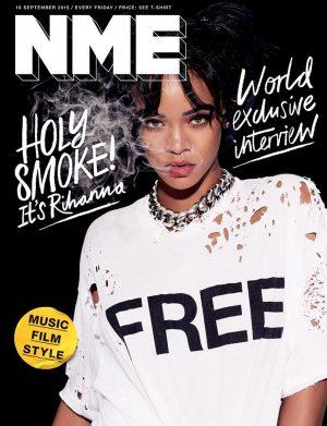 Rihanna Stars on NME Magazine September 2015 Cover
