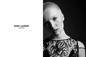 Ruth Bell Makes the Buzz Cut on Trend for Saint Laurent