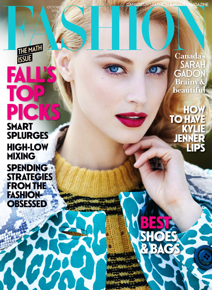 Sarah Gadon Gets Glam On FASHION Magazine Cover