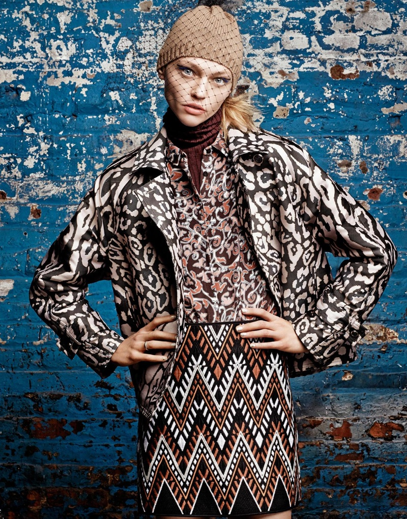 Sasha Pivovarova stars in Stylist UK's fall-winter 2015 issue