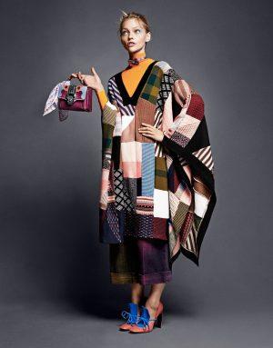 Sasha Pivovarova Embraces Print for Stylist UK
