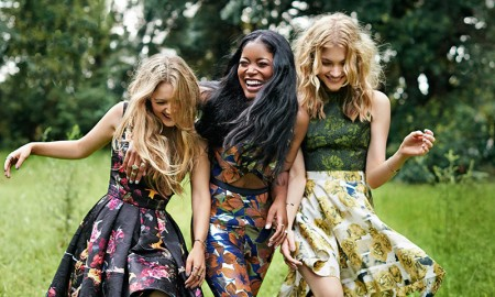 'Scream Queens' stars Keke Palmer, Billie Lourd and Skyler Samuels are all smiles as they pose for the October 2015 issue of Seventeen Magazine wearing bohemian inspired looks.