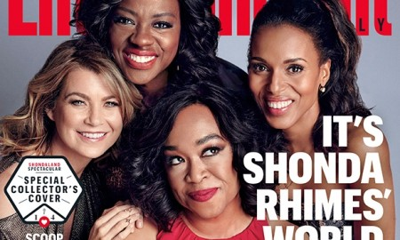 Ellen Pompeo, Viola Davis, Kerry Washington and Shonda Rhimes on Entertainment Weekly September 11, 2015 cover