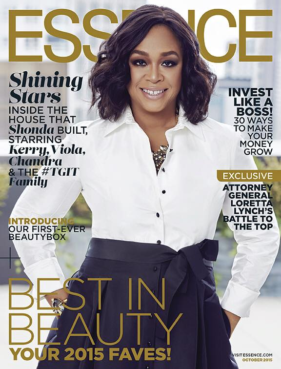 Shonda Rhimes on Essence October 2015 cover