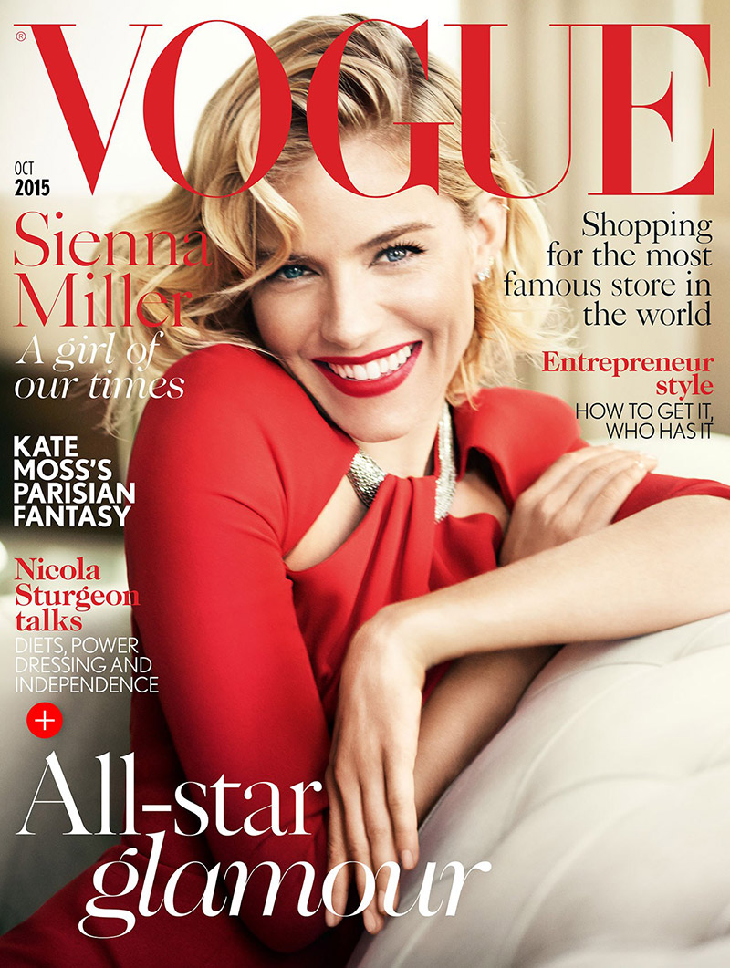 Sienna Miller Lands Sixth Vogue UK Cover