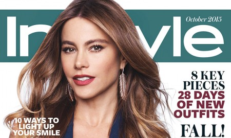 Sofia Vergara stars on the October 2015 cover of InStyle Magazine photographed by Jan Welters