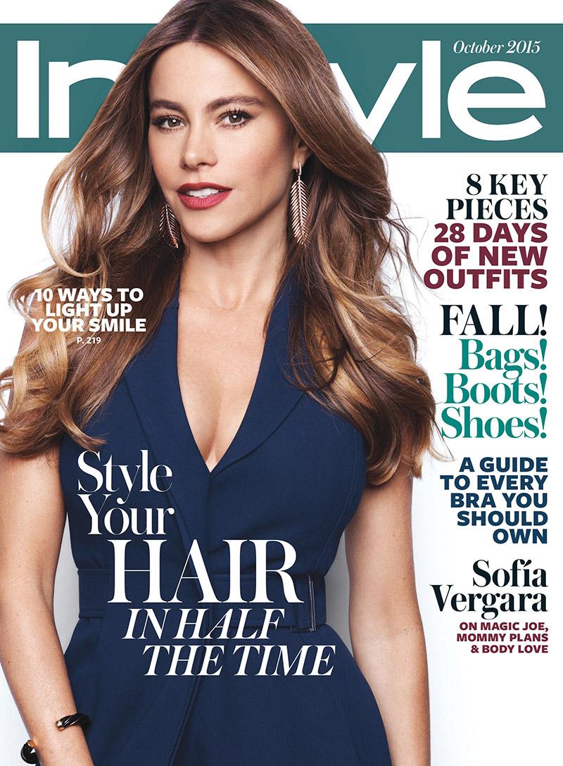 Sofia Vergara Lands InStyle October 2015 Cover