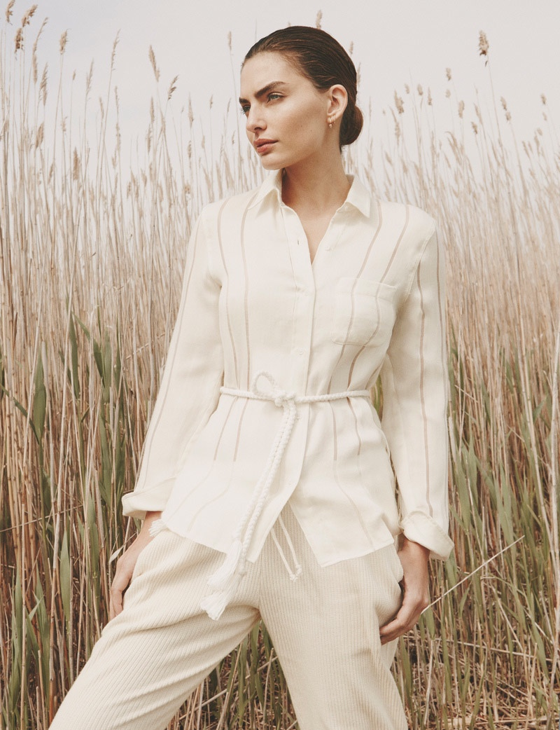 Alyssa models fall whites from Solid & Striped