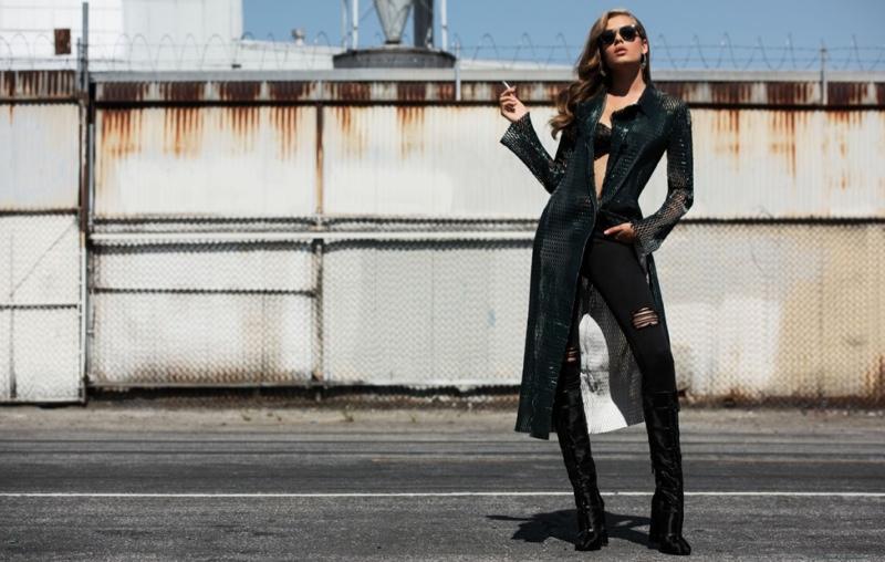 All About Denim & Leather - Solveig Mork Hansen For Flaunt