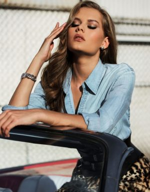 Solveig Mork Hansen is All About Denim & Leather for Flaunt