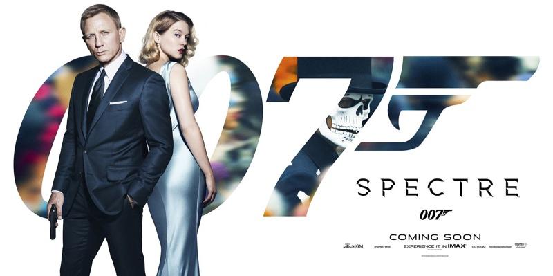 Spectre promotional artwork with Daniel Craig and Lea Seydoux