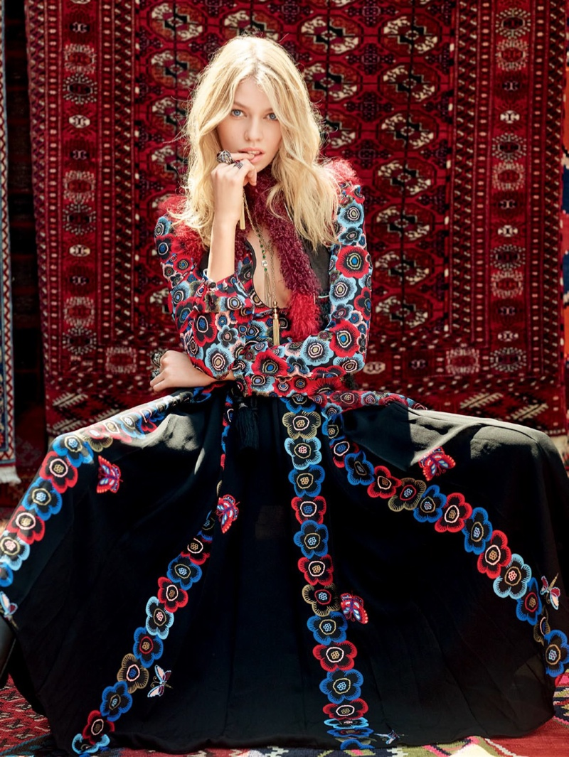 Stella Maxwell Is Bohemian Luxe In Vogue Russia Editorial
