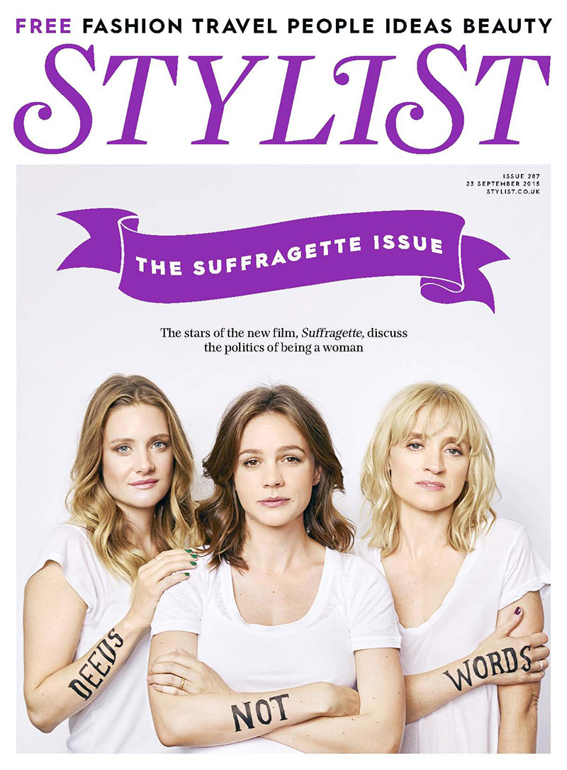 Suffragette Stars Make A Statement With Stylist Cover