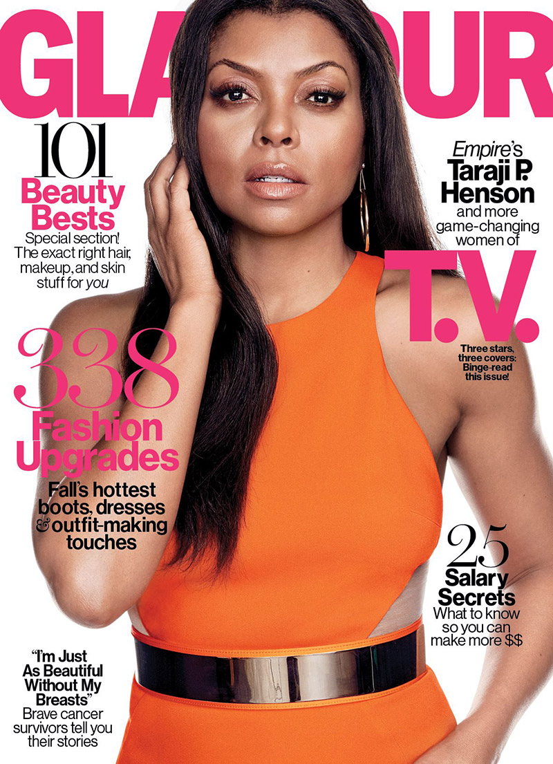 Taraji p henson lands glamour october 2015 cover fashion gone rogue