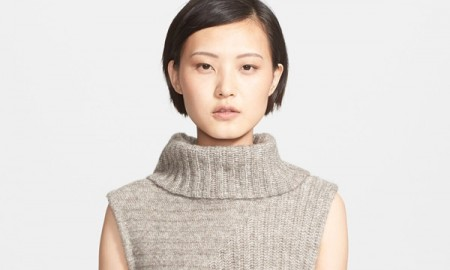 Theory Ribbed Knit Sleeveless Turtleneck available for $335.00