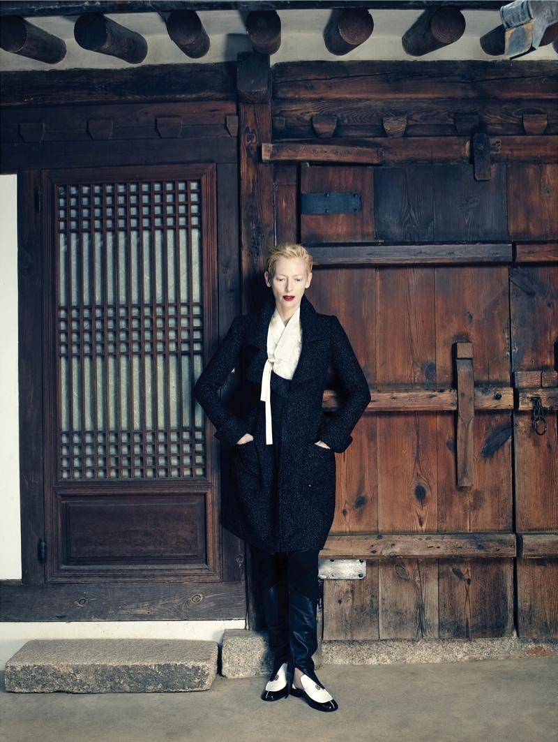 Tilda Swinton stars in Vogue Korea's August issue