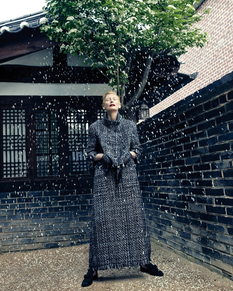 The dress is chanel - The Actress Poses In Korea For The Cover Story