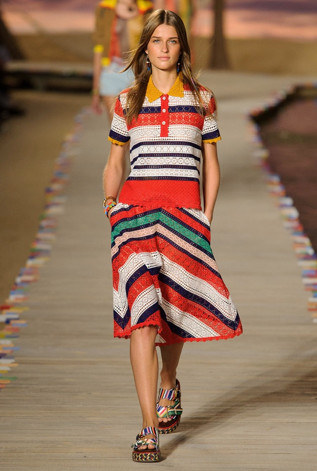 A look from Tommy Hilfiger's spring 2016 collection
