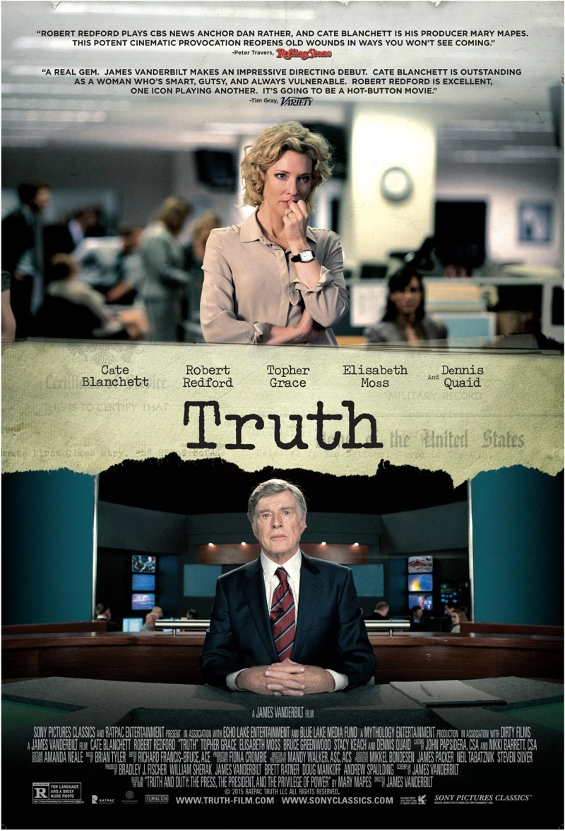 Truth poster with Cate Blanchett and Robert Redford. Photo: Sony Pictures Classic