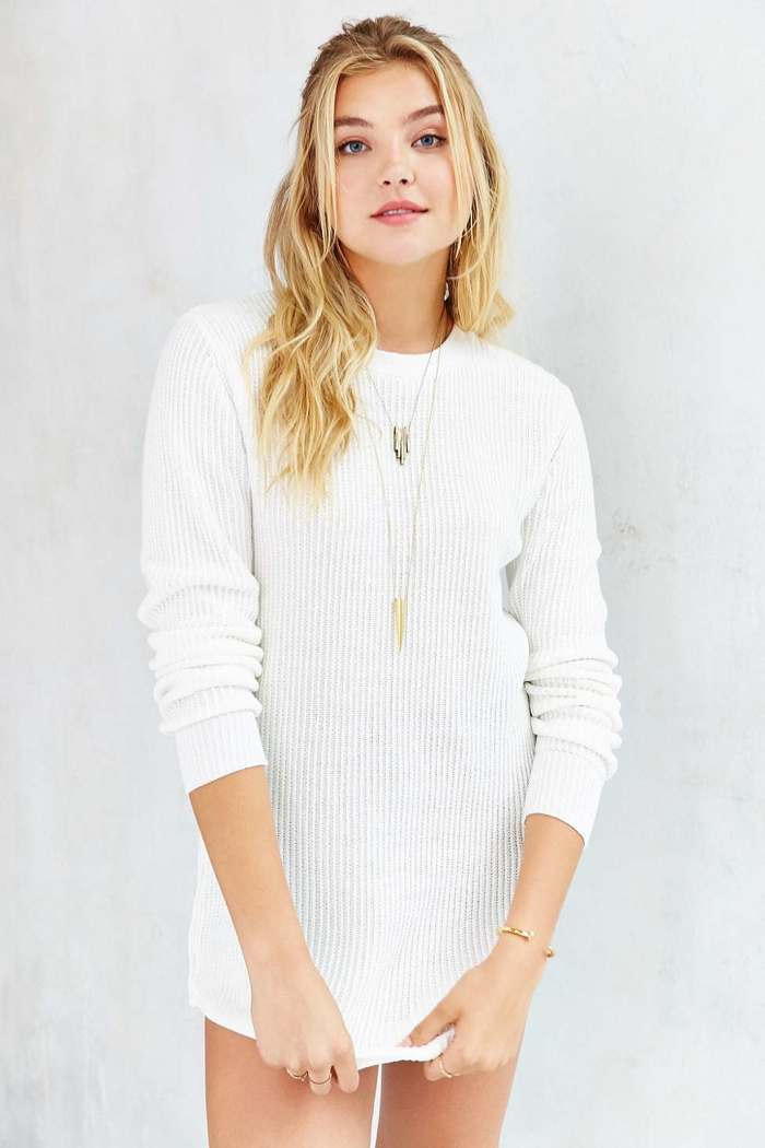 UNIF x UO Waffle Knit Sweater Tunic available for $79.00
