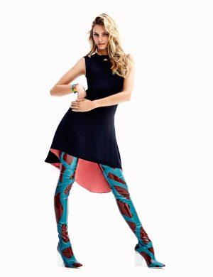 Valentina Zelyaeva Wears Dior for ELLE Spain by Xavi Gordo
