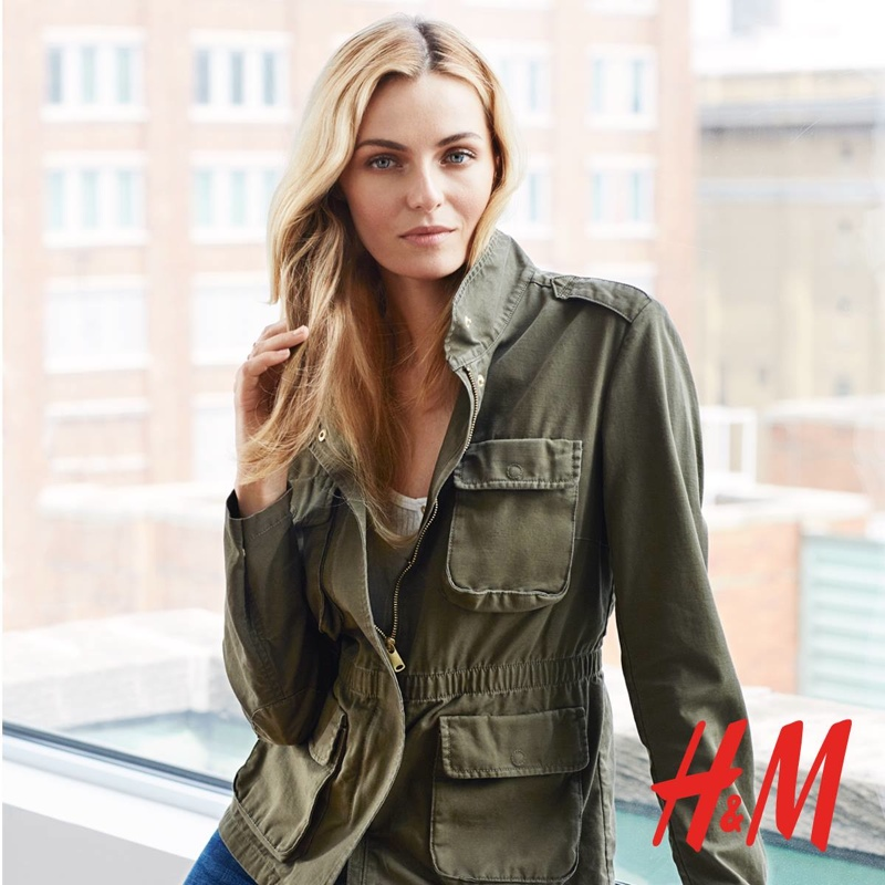 Valentina models a cargo jacket from H&M