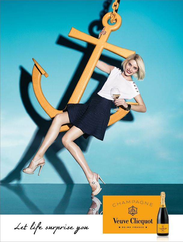 Alison Nix stars in Veuve Clicquot Champagne campaign for 2015