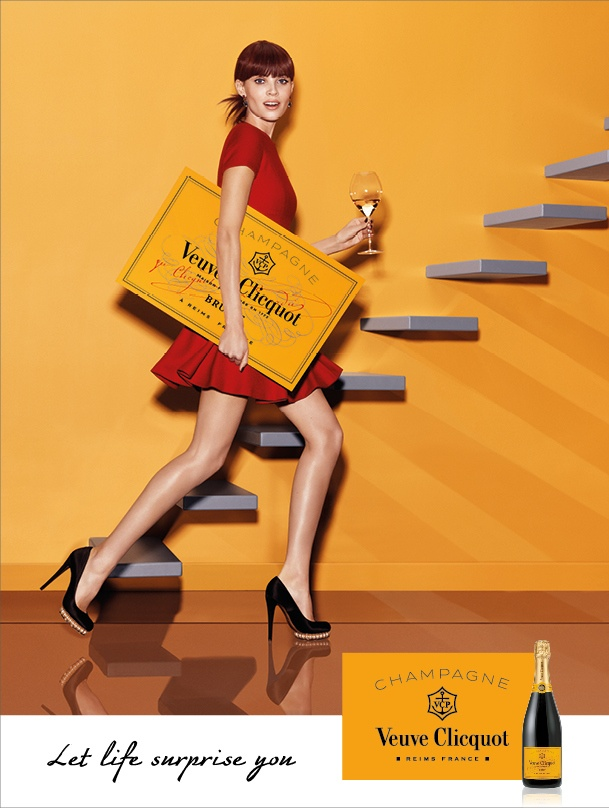 Image from champagne brand Veuve Clicquout's new campaign