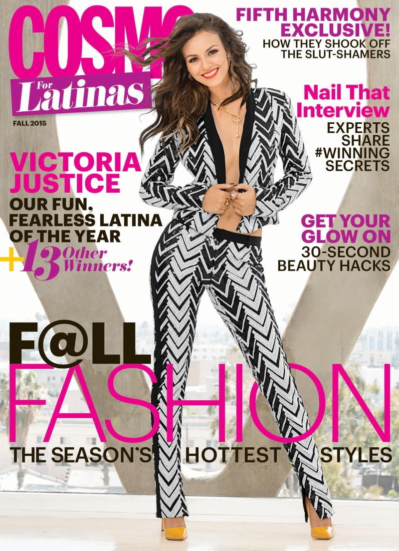 Victoria justice lands cosmo for latinas october 2015 cover fashion