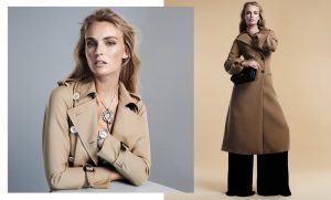 Ymre Stiekma Models Fall Outerwear in BAZAAR Spain by Zoltan Tombor