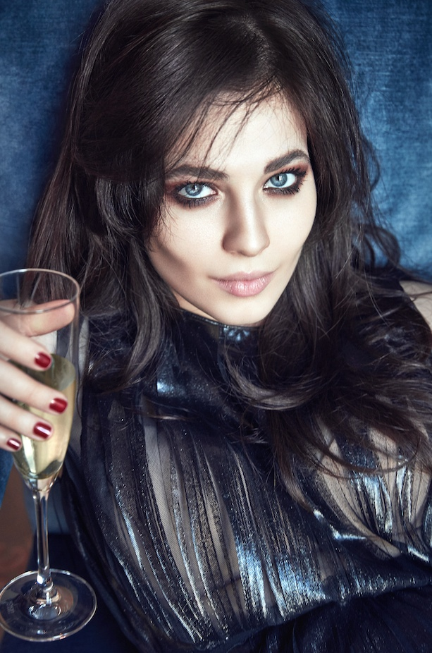 Three's Company: Yuliya Snigir in Lingerie Looks for GQ Russia