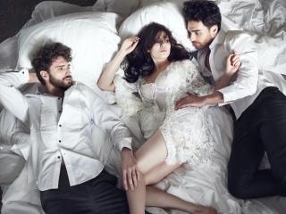 Threes Company: Yuliya Snigir in Lingerie Looks for GQ