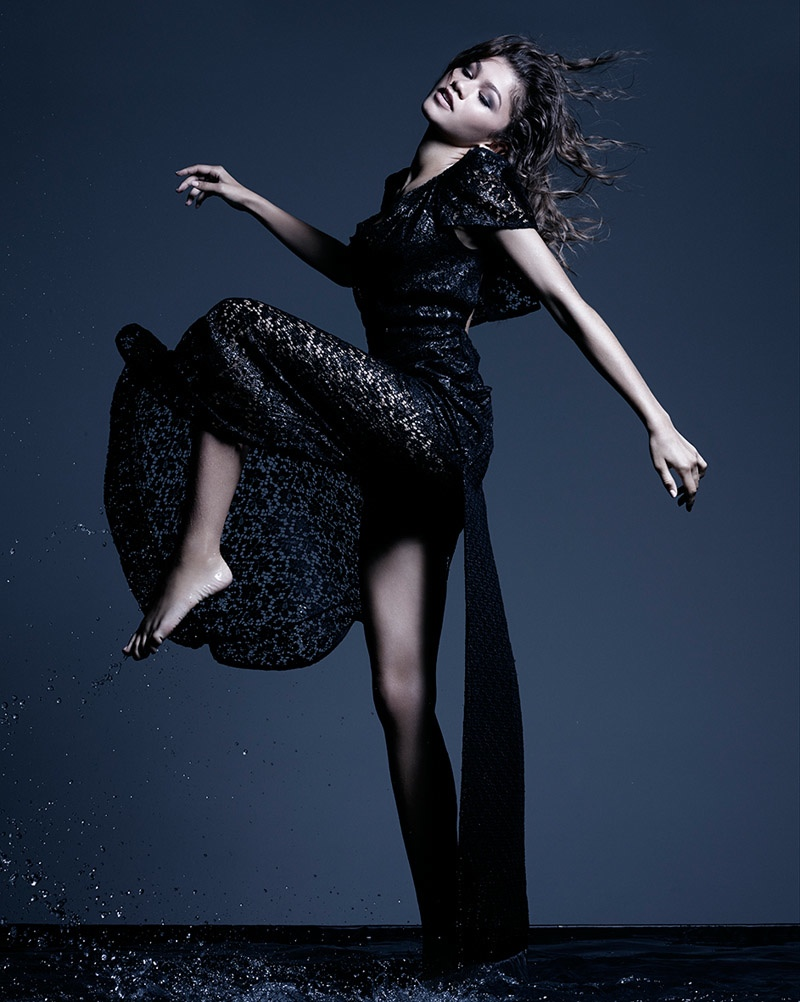 Zendaya poses in Vivienne Westwood dress. Photo: Rankin