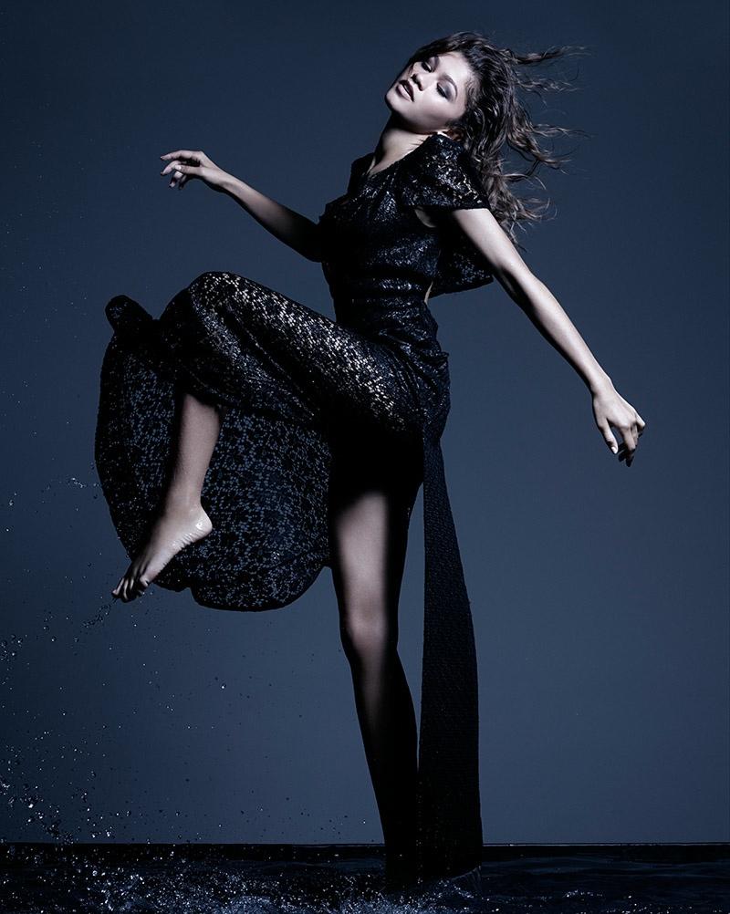 Zendaya poses in Vivienne Westwood dress. Photo: Rankin
