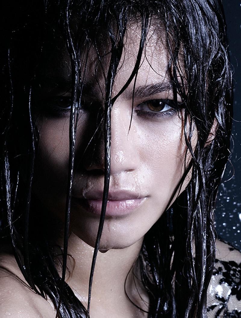 Zendaya wears the wet hair look. Photo: Rankin