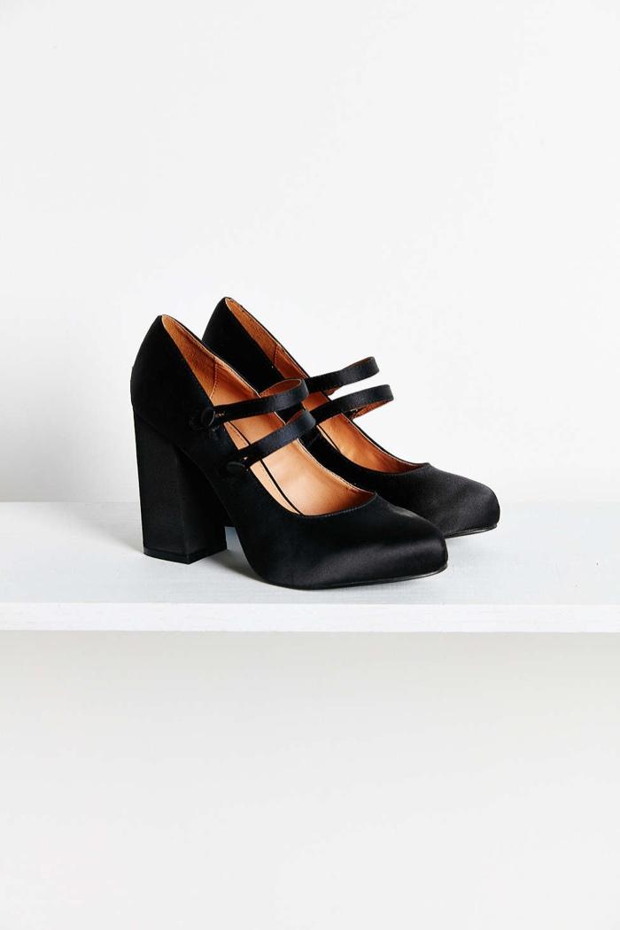 Agnes Satin Double Strap Heel