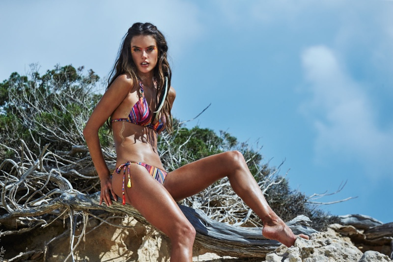 Alessandra models Ale by Alessandra swimsuit line